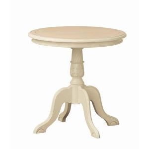 コーヒーテーブル クロシオ 『コモ テーブル』 ホワイト (92168) マホガニー 直径60cm 【北海道・沖縄・離島送料別途見積】|1128