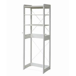 冷蔵庫ラック 木目調 幅60 ホワイト (KKS-0013-WH)|1128