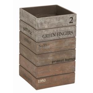 傘立て 『アンティーク ボックス』 ブラウン (SR-0821-BR-1200) おしゃれ Antique Box 【北海道・沖縄・離島 送料別途見積】|1128
