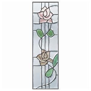 ステンドグラス (SH-C12) 927×289×18mm ローズ 薔薇 ピュアグラス Cサイズ (約8kg) 【メーカー在庫限り】 ※代引不可|1128