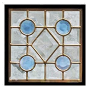 ステンドグラス (SH-D01) 200×200×18mm デザイン ピュアグラス Dサイズ (約1kg) ※代引不可|1128