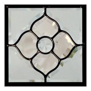 ステンドグラス (SH-D02) 200×200×18mm デザイン ピュアグラス Dサイズ (約1kg) 【メーカー在庫限り】 ※代引不可|1128