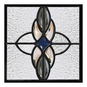 ステンドグラス (SH-D04) 一部鏡面ガラス 200×200×18mm デザイン ピュアグラス Dサイズ (約1kg)  代引不可|1128