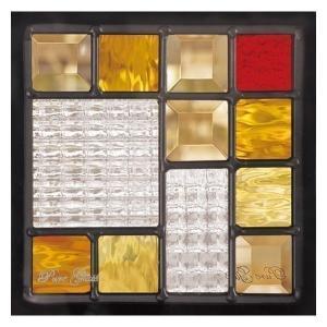ステンドグラス (SH-D07) 200×200×18mm デザイン ピュアグラス Dサイズ (約1kg) ※代引不可|1128