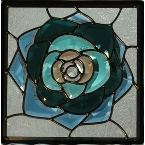ステンドグラス 【メーカー在庫限り】 (SH-E08) 一部鏡面ガラス 300×300×18mm ピュアグラス Eサイズ (約3kg) ※代引不可|1128