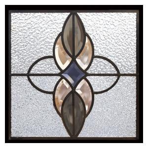 ステンドグラス (SH-E02) 一部鏡面ガラス 300×300×18mm デザイン アンティーク ピュアグラス Eサイズ (約3kg)  代引不可|1128