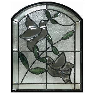 ステンドグラス 【メーカー在庫限り】 (SH-K07) 一部鏡面ガラス 500×400×18mm ピュアグラス Kサイズ (約6kg) ※代引不可|1128