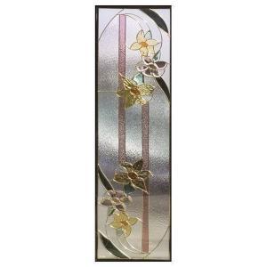 ステンドグラス (SH-B10) 一部鏡面ガラス 1625×480×20mm 花 Bサイズ (約24kg) ※代引不可 メーカー在庫限り|1128