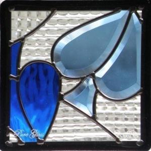 ステンドグラス (SH-D12) 200×200×18mm トランプ モダン ピュアグラス Dサイズ (約1kg) 【メーカー在庫限り】 ※代引不可|1128