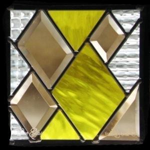 ステンドグラス (SH-D14) 200×200×18mm トランプ モダン ピュアグラス Dサイズ (約1kg) メーカー在庫限り ※代引不可|1128