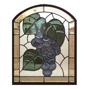 ステンドグラス (SH-K08) 一部鏡面ガラス 500×400×18mm 葡萄 ピュアグラス Kサイズ (約6kg) 【メーカー在庫限り】 ※代引不可|1128