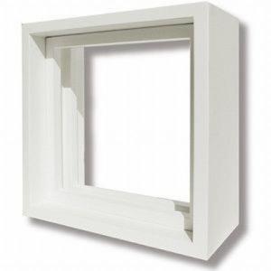 ステンドグラス専用木枠 SH-D用 (200角 室内用) ホワイト色  代引不可|1128