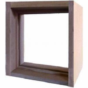 ステンドグラス専用木枠 SH-F用 (400角 室内用) タモ集成材 ※代引不可 メーカー在庫限り|1128