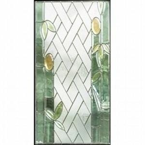 ステンドグラス  メーカー在庫限り  (SH-A27) 一部鏡面ガラス 913×480×18mm ピュアグラス Aサイズ (約13kg)  代引不可|1128
