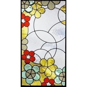 ステンドグラス (SH-A28) 913×480×18mm デザイン ピュアグラス Aサイズ (約13kg) メーカー在庫限り ※代引不可|1128