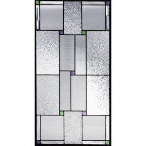 ステンドグラス  メーカー在庫限り  (SH-A32) 913×480×18mm デザイン ピュアグラス 幾何学 Aサイズ (約13kg)  代引不可|1128