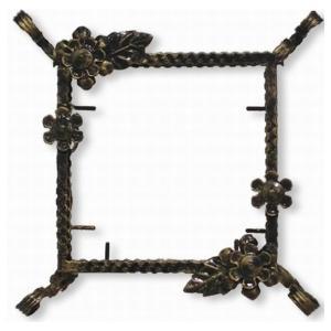 ステンドグラス専用アイアンフレーム 『ピュアデコプラス』 SH-D用 (PDP-H) アンティークゴールド フラワー 花 枠 ※代引不可|1128