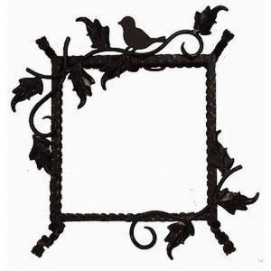 ステンドグラス専用アイアンフレーム 『ピュアデコプラス』 SH-D用 (PDP-C) ブラック 小鳥 枠 ※代引不可|1128