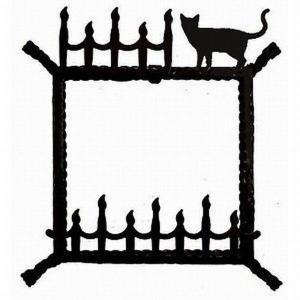 ステンドグラス専用アイアンフレーム 『ピュアデコプラス』 SH-D用 (PDP-F) ブラック 猫 枠 ※代引不可|1128