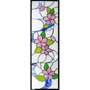 ステンドグラス (SH-L05) 927×289×18mm デザイン ピュアステンド 桜 (約8kg) ※代引不可|1128
