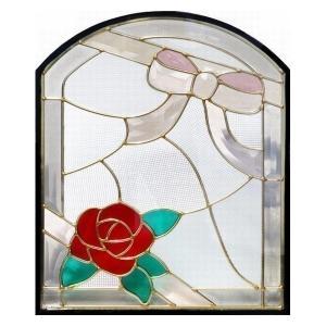 ステンドグラス (SH-K16) 500×400×18mm デザイン 窓型 ピュアグラス Kサイズ (約6kg) 一部鏡面ガラス ※代引不可|1128