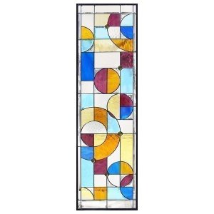 ステンドグラス (SH-B24) 1625×480×20mm 一部鏡面ガラス 幾何学 ピュアグラス Bサイズ (約24kg) ※代引不可|1128
