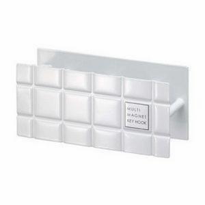 キーフック マグネット式 『タイル』 (6282) 玄関 小物 収納 ホワイト|1128