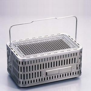 バーベキューコンロ 七輪 シチリン しちりん 卓上 角型 団炭 網付(フルサイズ) SC-392 焼き肉 BBQコンロ キャンプ|1128