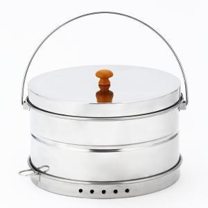燻製器 燻製機 くんせい器 家庭用スモーカー キャンプ用品 ステンレススモーカー SS-25|1128