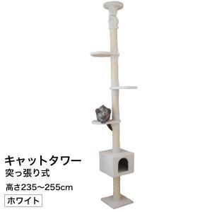 キャットタワーつっぱり棒 ホワイト CT-A2305|1128