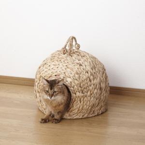 猫ちぐら 『ペットちぐら 中』 直径35cm (28637) クロシオ キャットハウス 【北海道・沖縄・離島送料別途見積】|1128