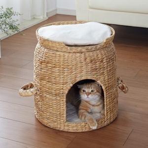 猫ちぐら 『セパレート ベッド付き ちぐら』 クロシオ キャットハウス 28647  【北海道・沖縄・離島送料別途見積】|1128