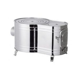 ホンマストーブ 時計型薪ストーブ・カマドシリーズ ステンレス時計1型ストーブ AS-60 12289 W400×D600×H345 5.2kg|1128