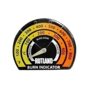 ホンマストーブ アメリカ・RUTLAND社製 マグネット吸着式温度計 #701 W86×D10×H70mm 501801001|1128