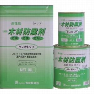 吉田製油所 クレオソートに代わる 木材防腐剤 クレオトップ 16L缶 【クリア】|1128