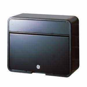 郵便ポスト スチールポスト (カムロック錠タイプ) マットブラック FH-58P(MBK) メールボックス 鍵付き|1128