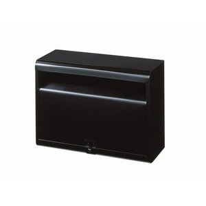 郵便ポスト カラーポスト マットブラック FH-50(MBK) メールボックス 鍵なし|1128