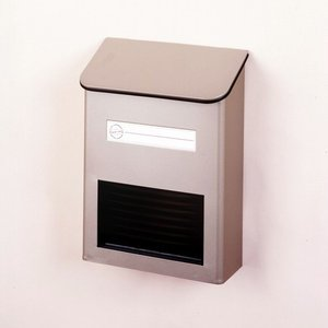 郵便ポスト スチールポスト チタングレー FH-20(TGY) 壁掛けポスト コンパクト メールボックス 鍵なし|1128