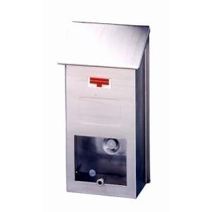 郵便ポスト ステンレスポスト PS-10H 壁掛けポスト スリム コンパクト メールボックス 鍵なし|1128