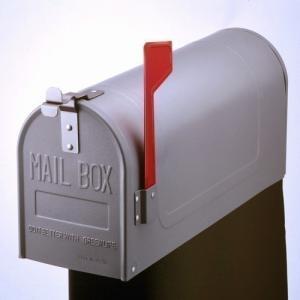 郵便ポスト スチールアメリカンポスト US-480S シルバー ※ポール別売 メールボックス 鍵なし|1128