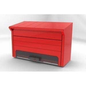 郵便ポスト PP-30(R) レッド A4対応 メールボックス 鍵なし|1128