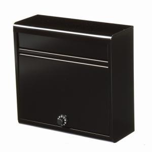 郵便ポスト 家庭用郵便ポスト(ダイヤル錠付・マットブラック) FH-614D(MBK) メールボックス ダイヤル錠式|1128