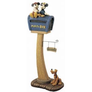 スタンドポスト 郵便ポスト 『ミッキー&ミニー』 (SD-0336-3500) メールボックス ディズニー 【北海道・沖縄・離島 送料別途見積】|1128