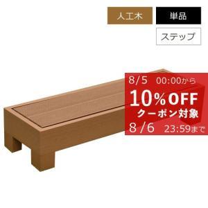 ウッドデッキ 樹脂 人工木 DIY オプション ステップ 単品 カルパティアII (DIYデッキ)|1128