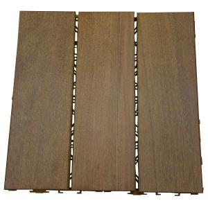 ウッドパネル ウッドデッキ 3枚貼り (10枚セット) 高級 木製 イペ|1128