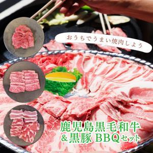 牛肉 肉 和牛 赤身肉 豚肉 国産 焼き肉 焼肉 BBQ 鹿児島黒毛和牛(経産牛)&かごしま黒豚よくばり5種食べ比べセット650g-セット価格|1129nikulabo