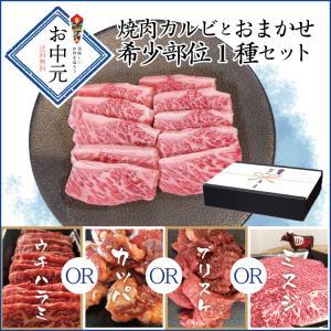 牛肉 肉 和牛 赤身肉 お中元 鹿児島黒毛和牛(経産牛) 焼肉カルビとおまかせ希少部位1種セット|1129nikulabo