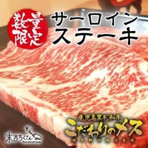 牛肉 肉 和牛 赤身肉 鹿児島産黒毛和牛 経産牛雌 サーロインステーキ-500g|1129nikulabo