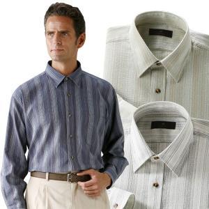 匠 しじら織りレギュラーカラーシャツ 3色組 長袖 ボタンシャツ メンズ 春夏 50代 60代 41030-AR|1147kodawaru