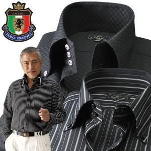 フランコ・コレツィオーニ ドレスシャツ ワイシャツ 長袖 ブラック系3枚組 メンズ 通年 Franco Collezioni 50391-AR 50代 60代|1147kodawaru
